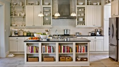 Photo of Kitchen equipment – where should we put the cookbooks?