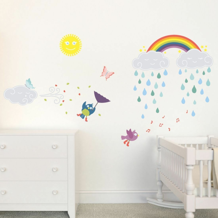 wall decal nursery colored wall decoration carpet floor