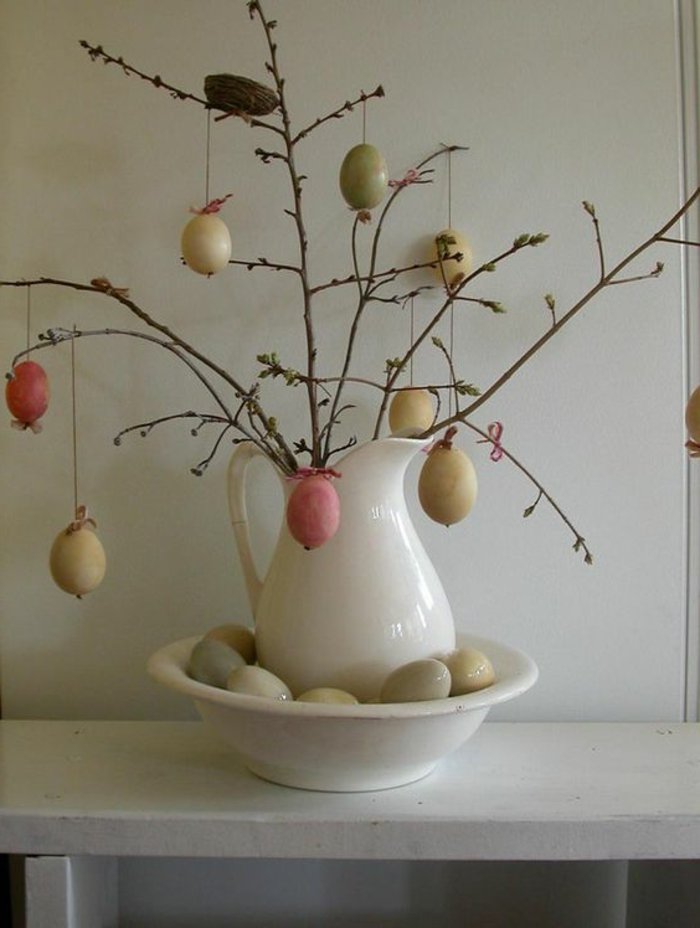 decorating easter easter eggs hanging branch decorating deco ideas