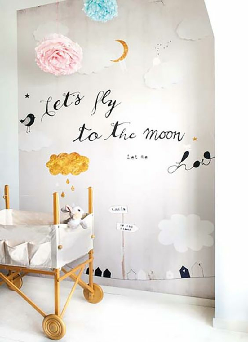 Wallpaper nursery pattern wallpaper baby room set up ideas