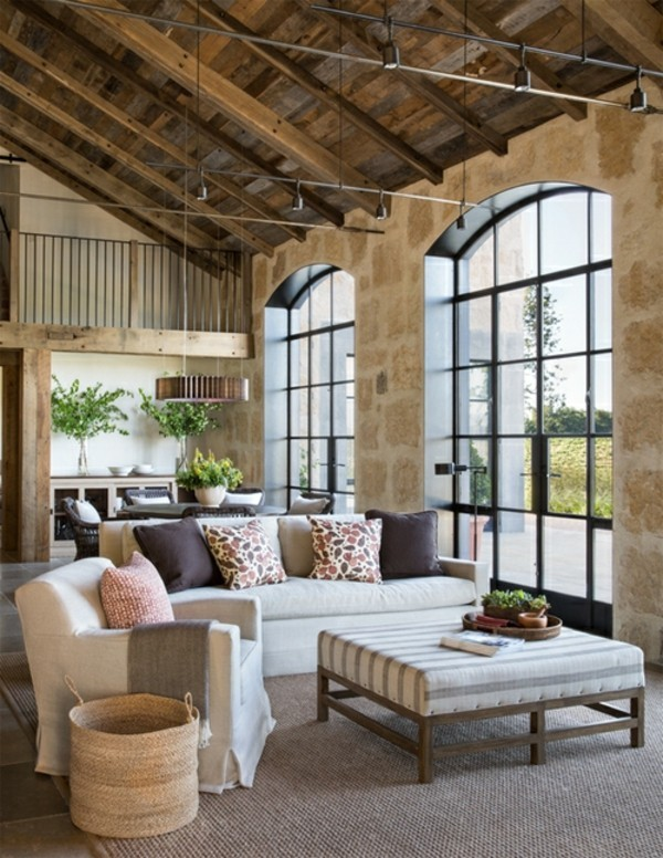 stone walls decorating noble and rural