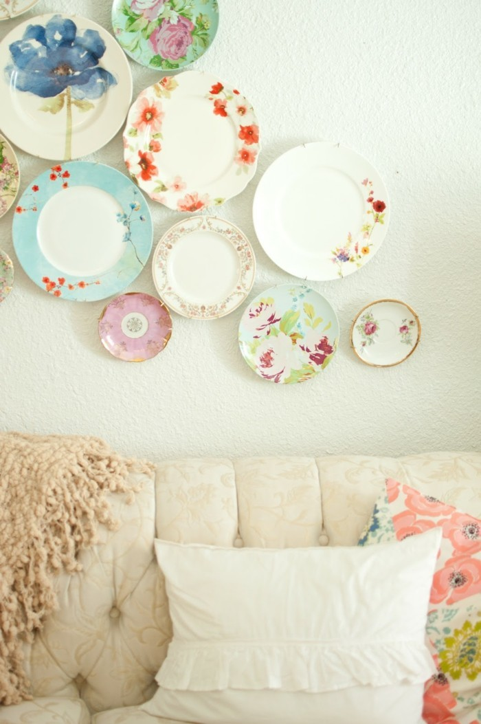 walls decorate plates colored wall decorations ideas living room