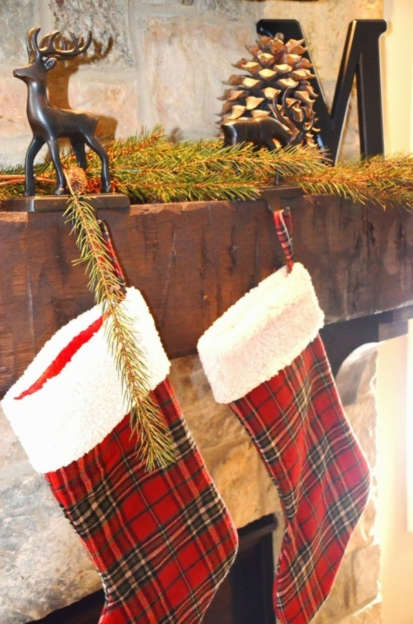 Christmas stockings as a DIY decoration