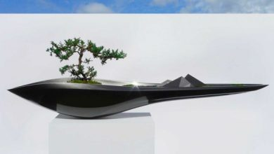 Photo of Kasokudo flower tub, inspired by the auto industry