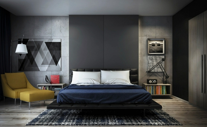 wall decoration ideas in black gray