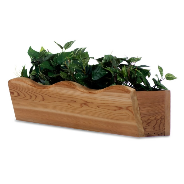 flower box balcony design wood elegant