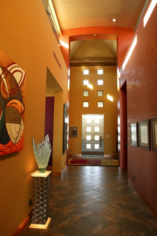 Metal colors for the entrance area