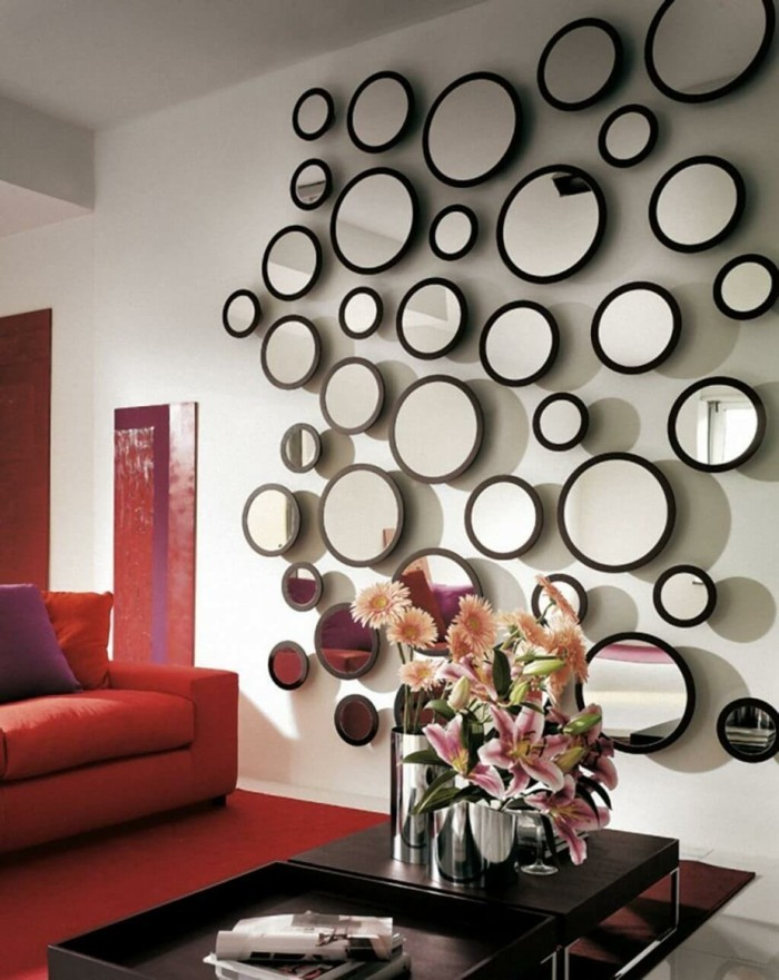 small circular mirror for decoration