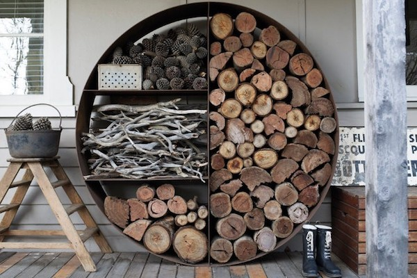 Store firewood outside to dry