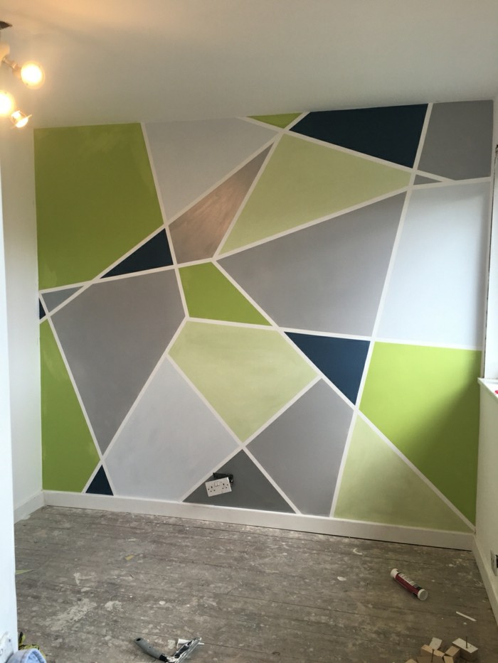 Wall decoration in green