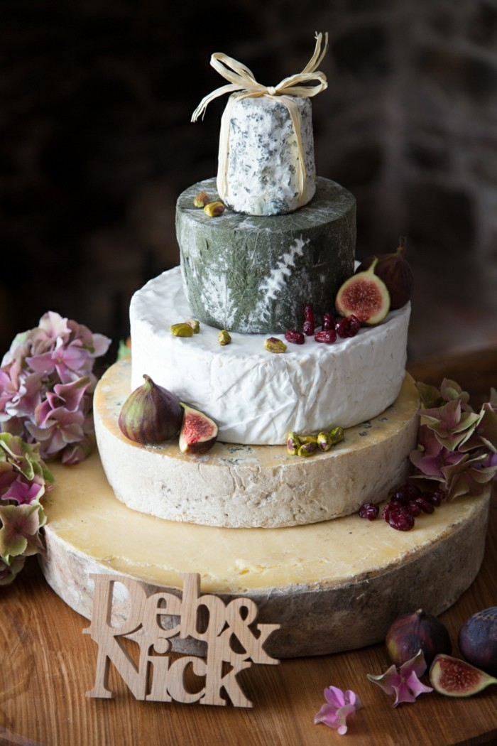 unusual wedding cakes made of different cheeses