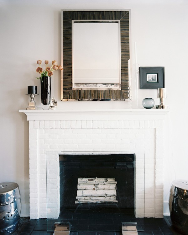modestly decorate the mantelpiece