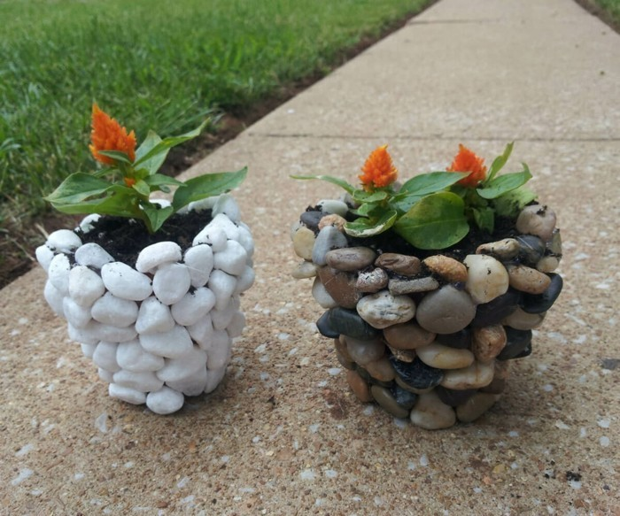 make your own planters paint stones