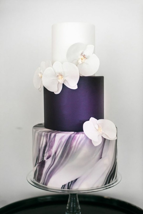 Wedding cakes marble and blue