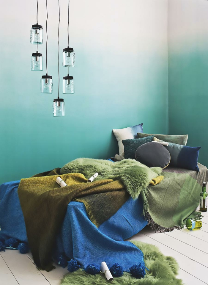 wall paint turquoise colors ideas wall design ideas