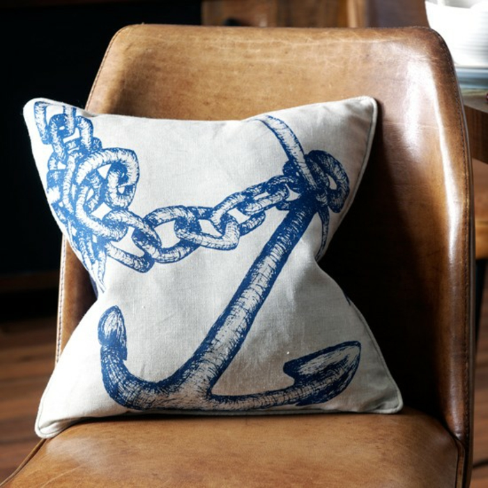 furnishing examples maritime decoration octopus blue living room entrance blue coral pillow