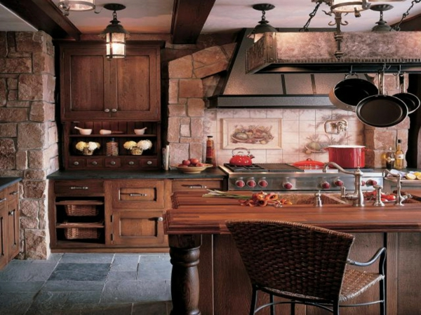 modern country kitchen design wall cabinet wood