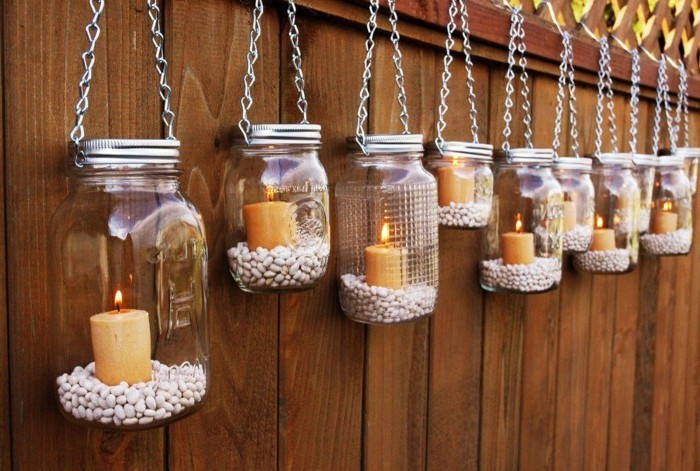 fancy garden decorating yourself decorating fence with candles