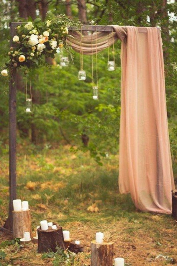 wedding outside great curtains