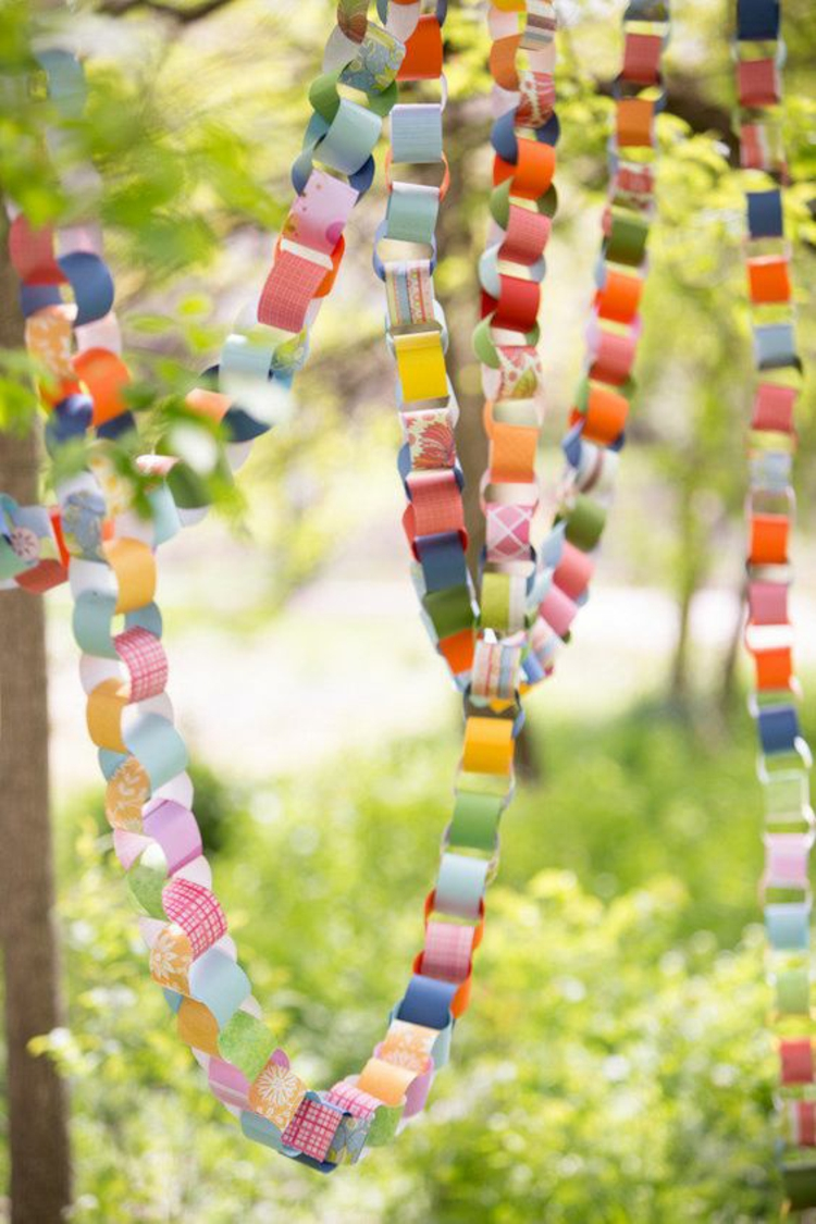 Table decoration garden party deco itself make paper garland