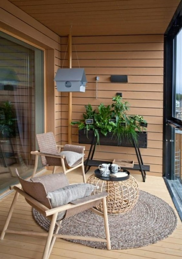 balcony furniture ideas small terrace shape