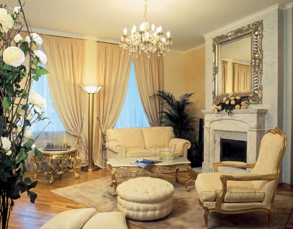 bright living room ambience