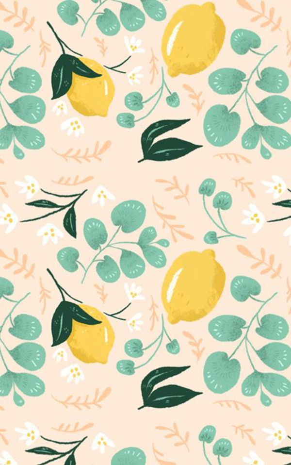 wallpaper pattern kitchen fruits fresh wall design
