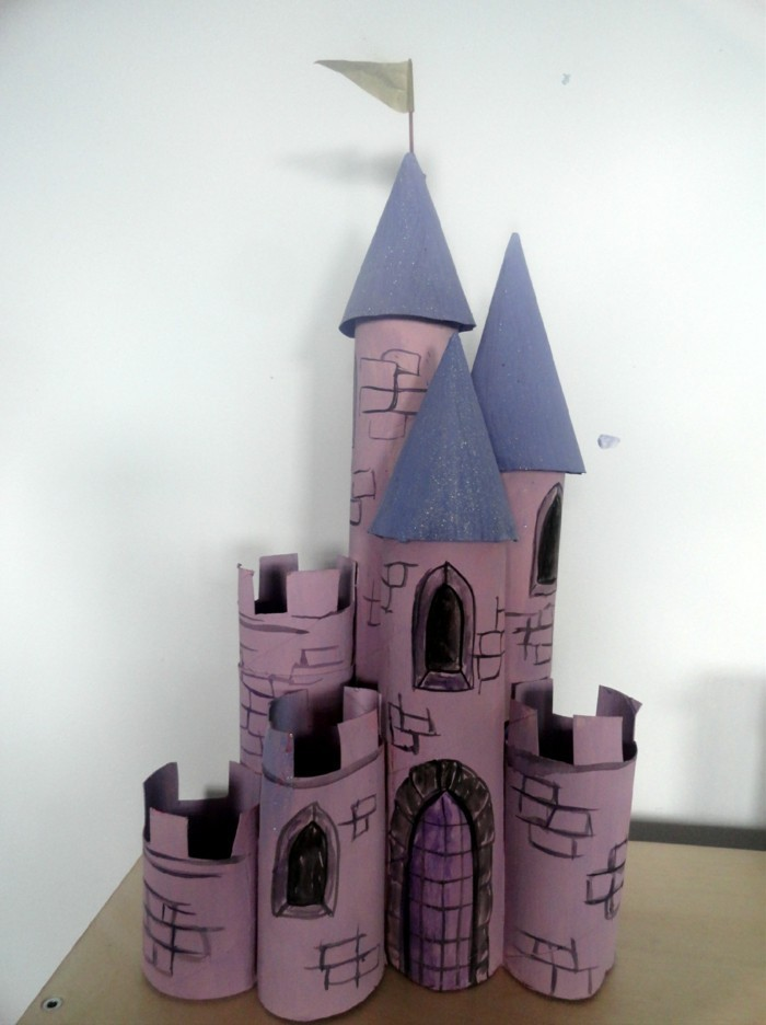 tinkering with toilet paper rolls diy ideas decorating ideas tinkering with children's castle
