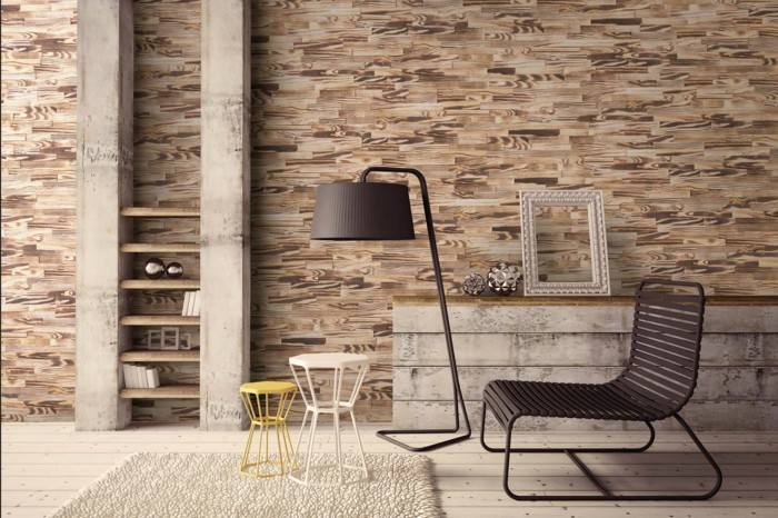Wooden wall individuality ideas