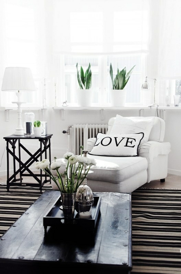 Determine green plants in the living room