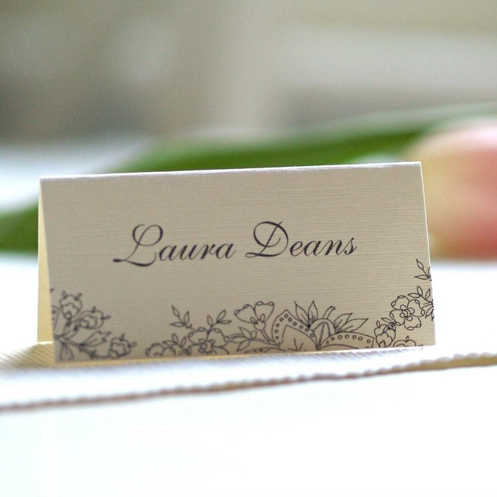 Name card in a vintage style