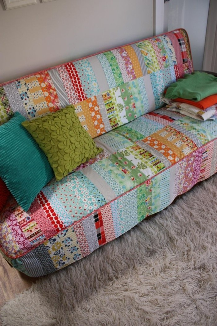 sofa cover animals chic patchwork