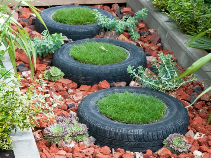 garden tips old car tires plant container garden design