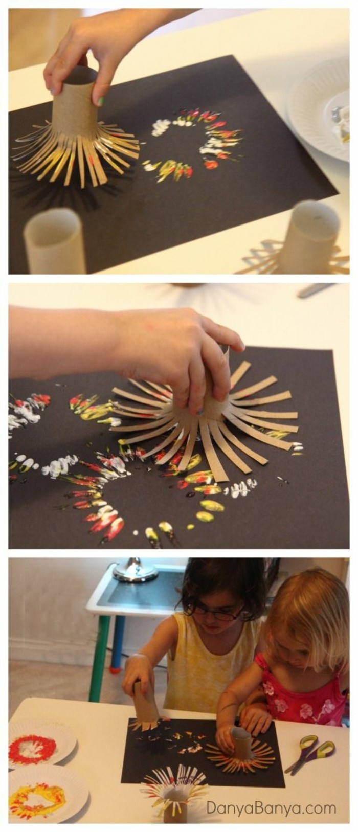 making autumn with children make autumn decoration yourself making with tiling paper rolls stamp yourself