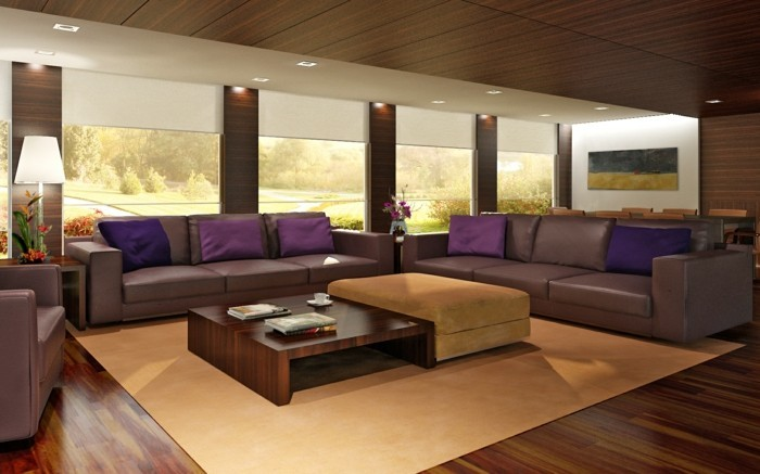 brown leather sofa in scene 19