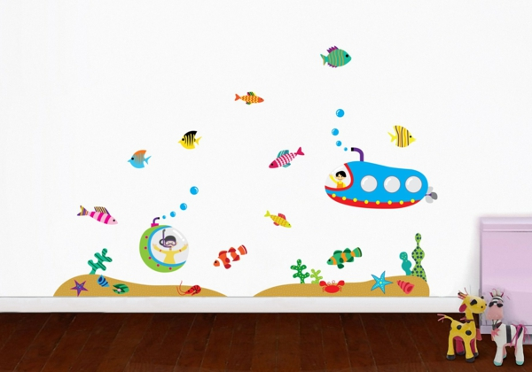 wall stickers kids room underwater world toddlers