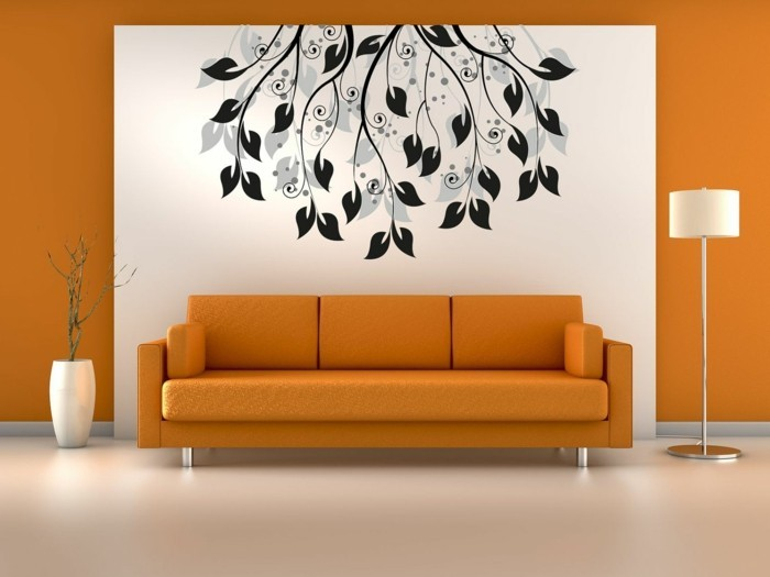 wall design for the living room