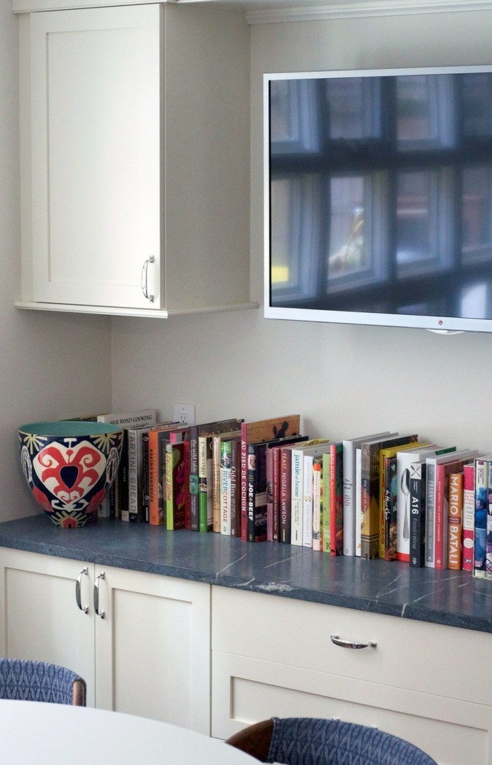 kitchen equipment books decoration workspace