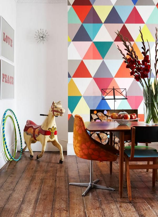 wallpaper pattern dining room wall design table decoration dkeo ideas