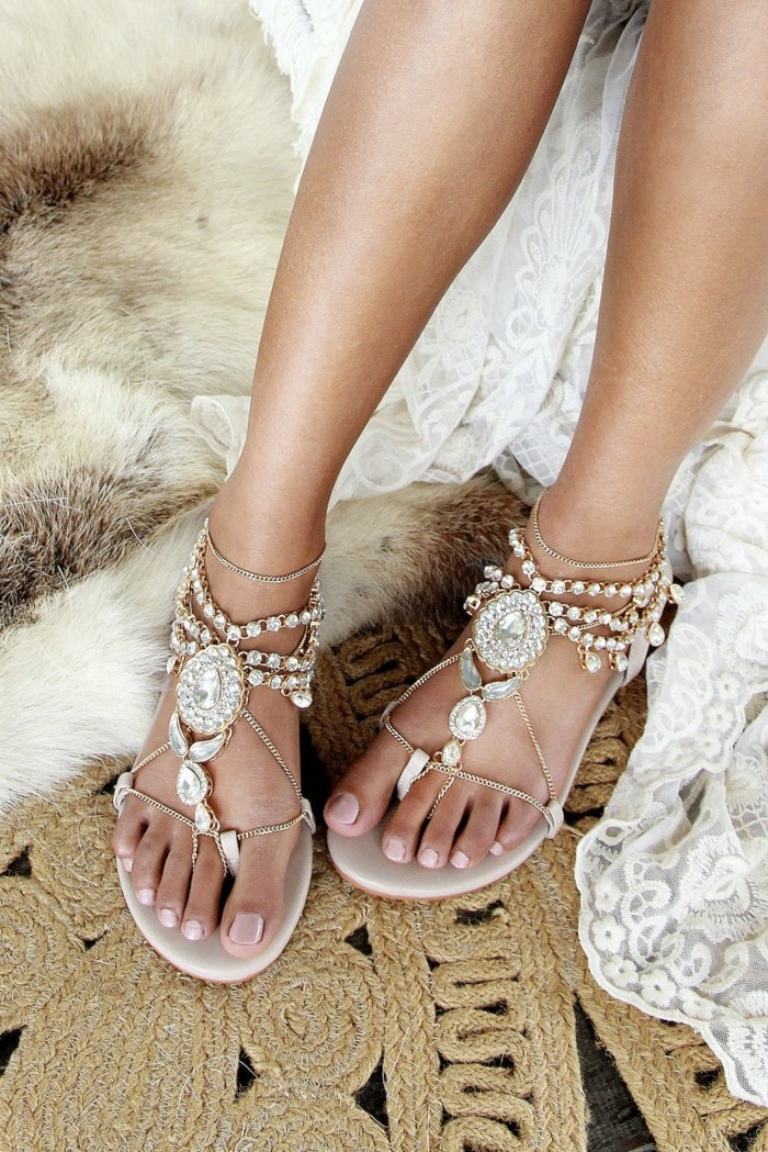 buy sandals with rhinestone bridal shoes online