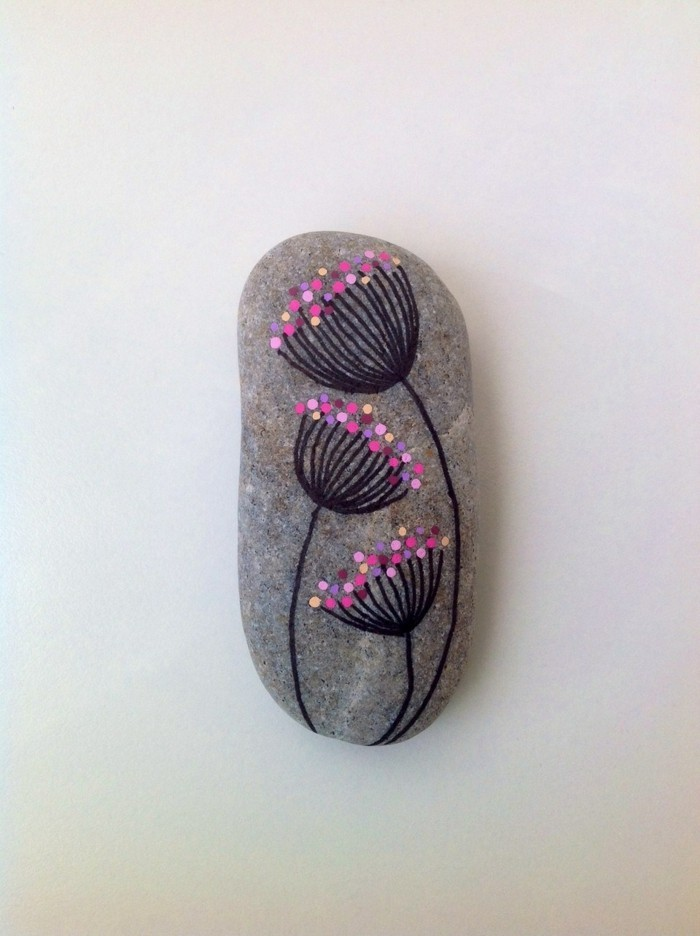 Diy ideas stones colorful for cheerful mood
