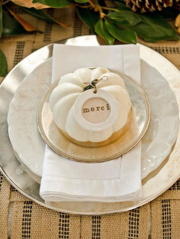 Deco pumpkin in white