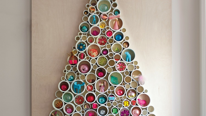 Christmas tree artificially artificial Christmas tree test by wall plastic