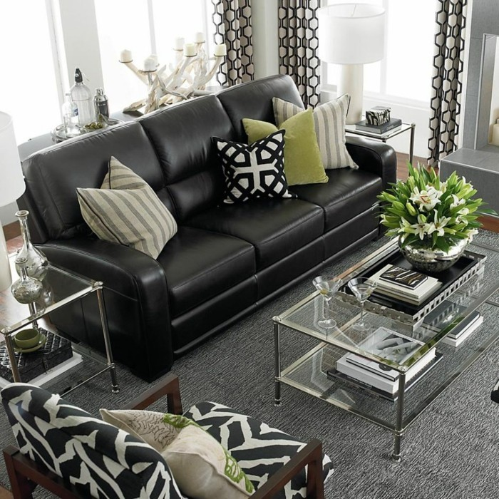 brown leather sofa in scene 3