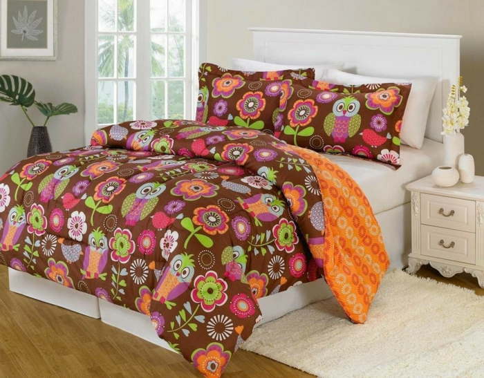 decoration ideas bedroom colored funny bedding owls