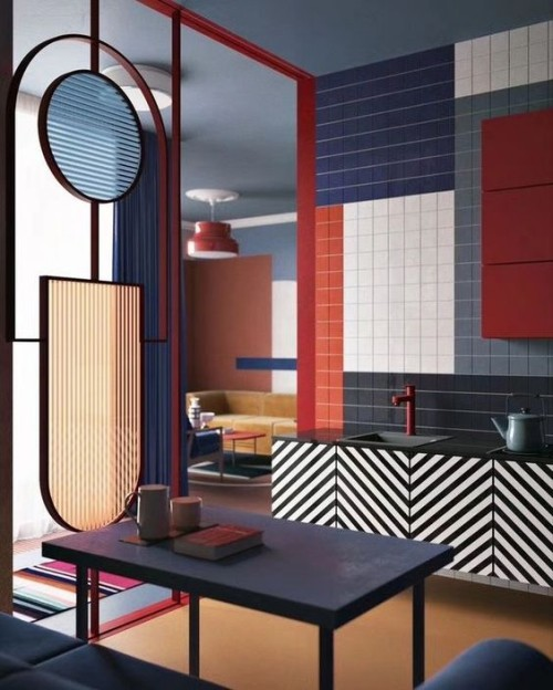 Wall colors ideas geometric results