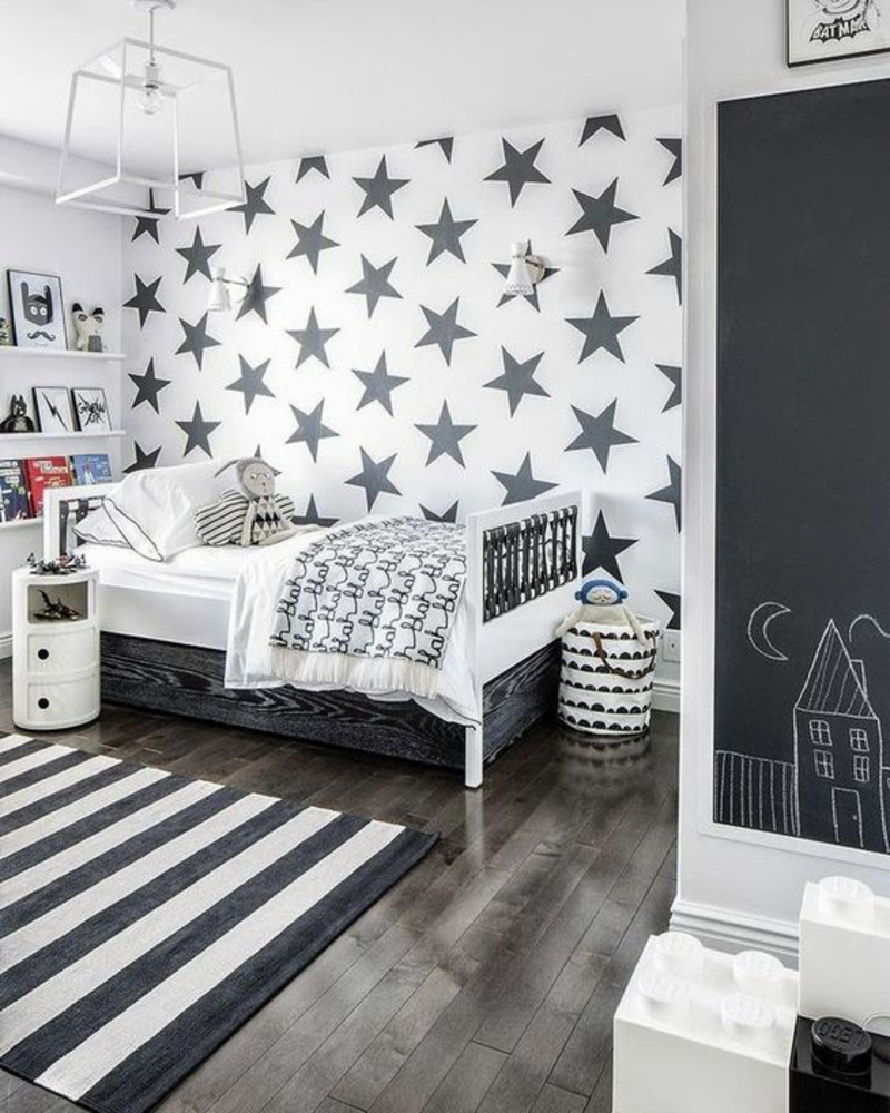 Wallpaper nursery star pattern rug stripe pattern