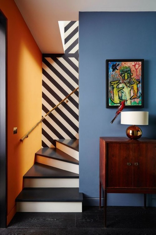 Wall colors ideas light blue accent wall
