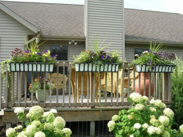 terrace balcony flower box design plants