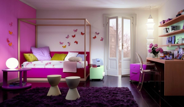 wall colors combinations white pink combination